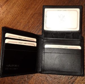 Wallet Art. Style Franco 5 black (shipping costs included)